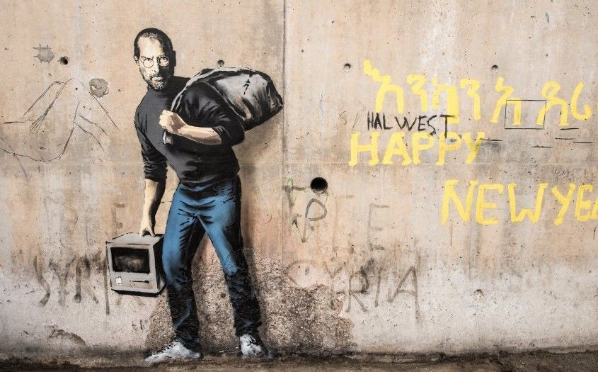 bansky, steve jobs, apple españa,